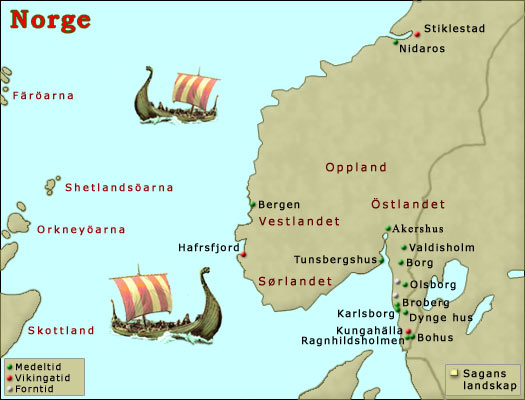 Karta Sodra Danmark.Karta Over Norge